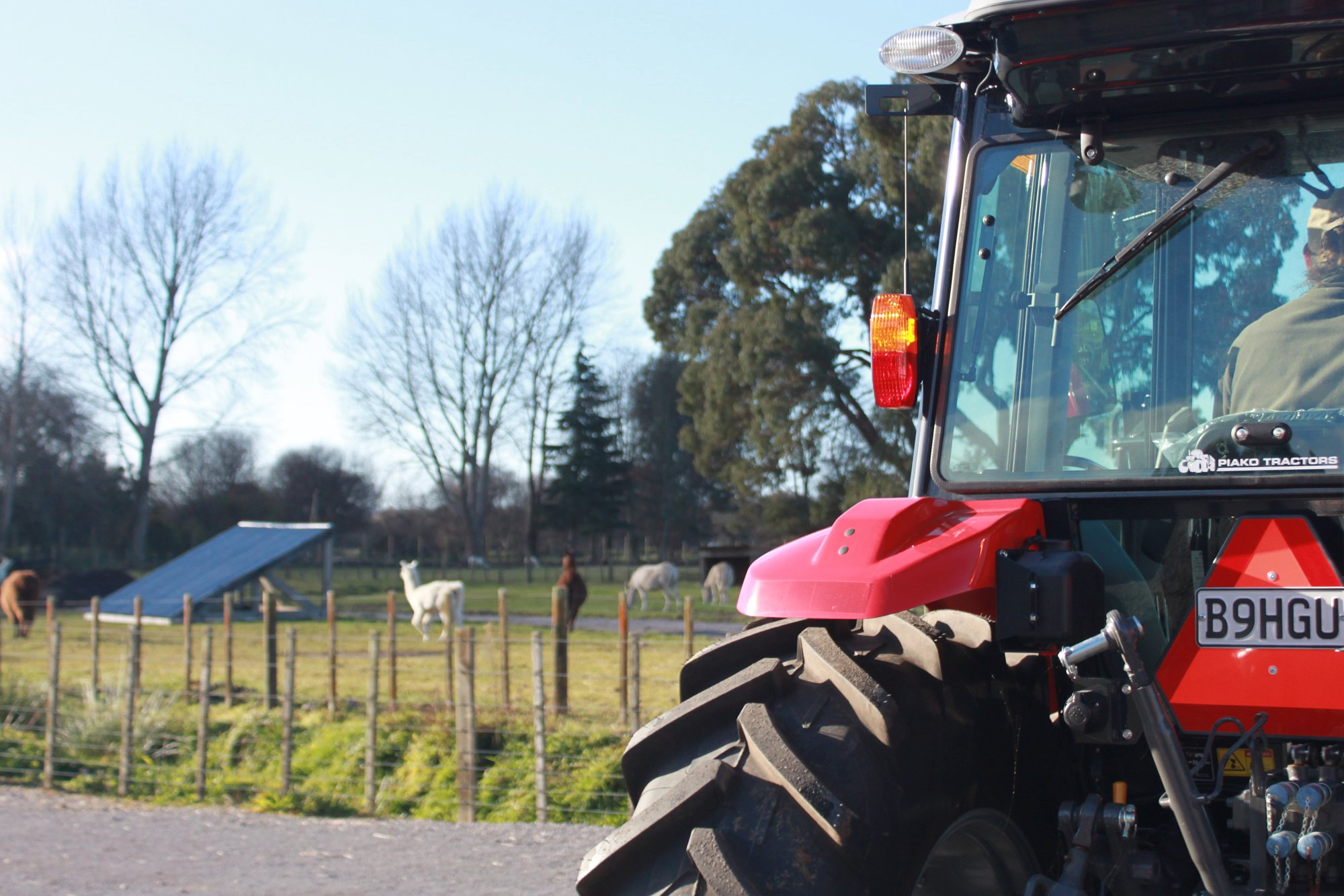 Join an hour NZ farm tour with a powerful tractor.